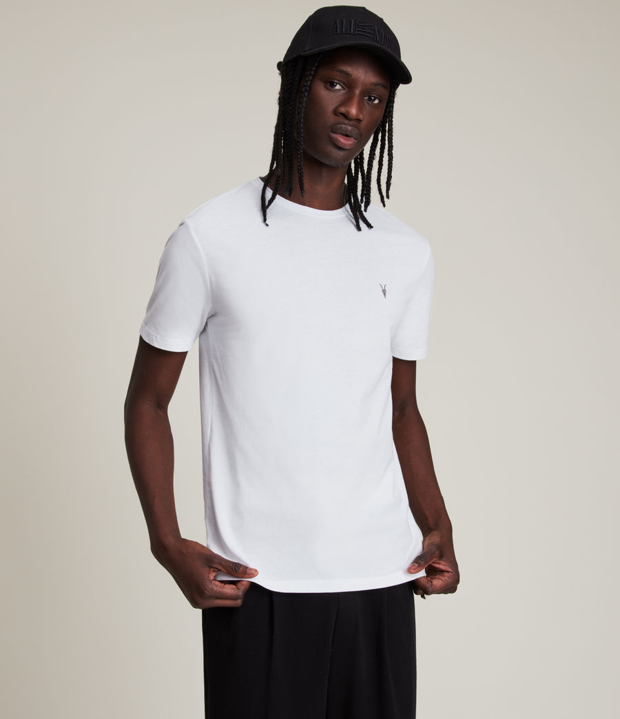Mens Brace Tonic Crew T-Shirt (optic_white) - Image 4
