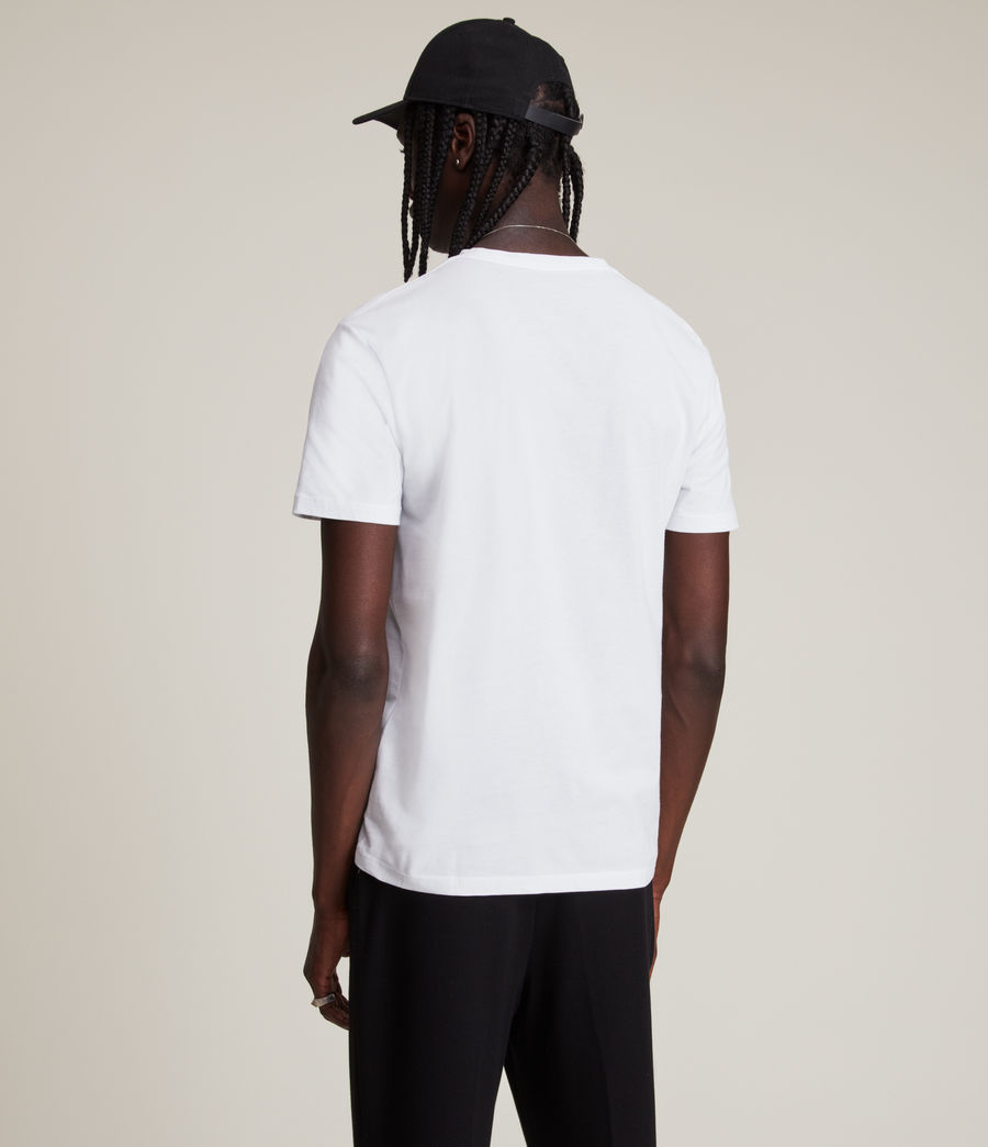 Mens Brace Tonic Short Sleeve Crew T-Shirt (optic_white) - Image 5