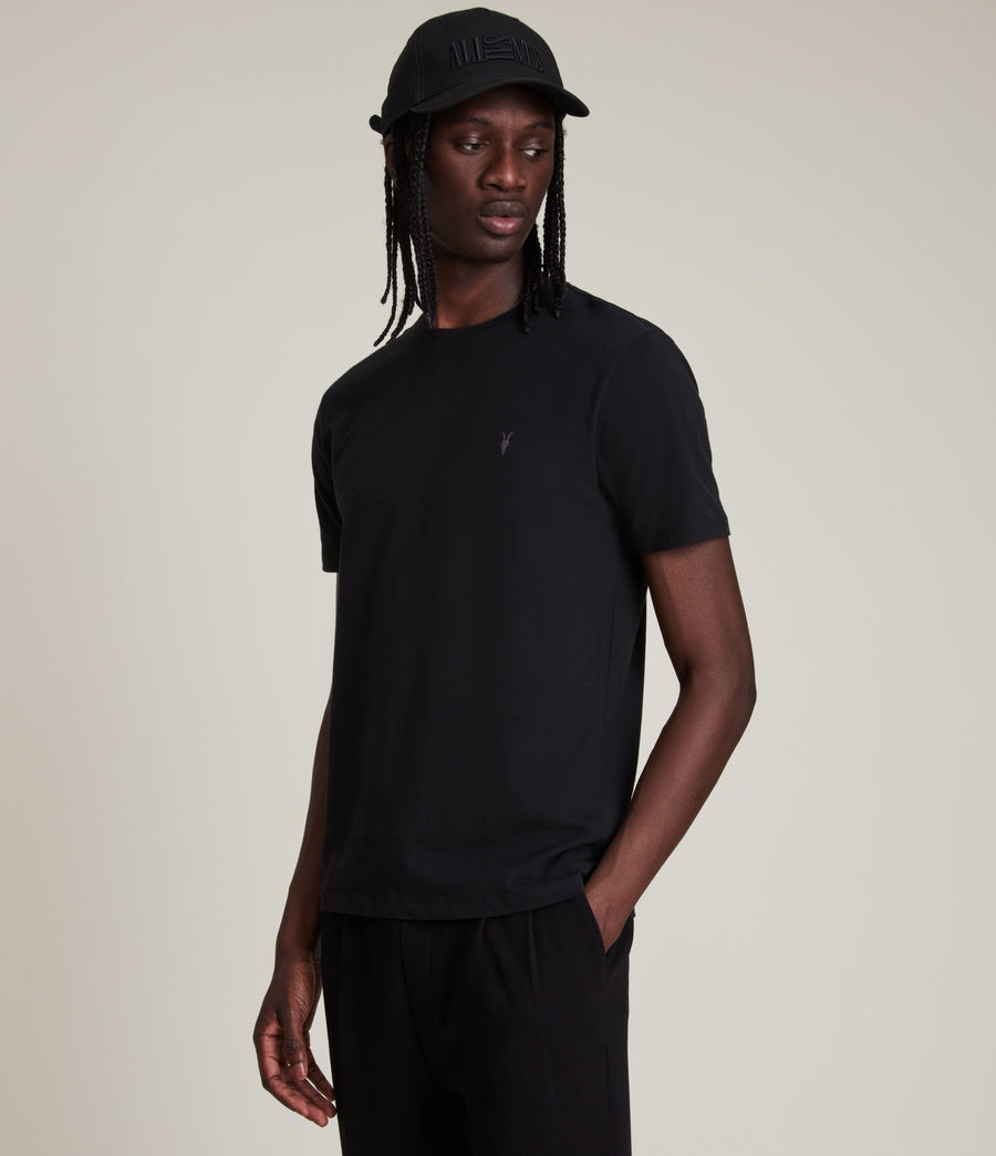 Men's Brace Tonic Crew T-Shirt (Jet Black) - Image 4