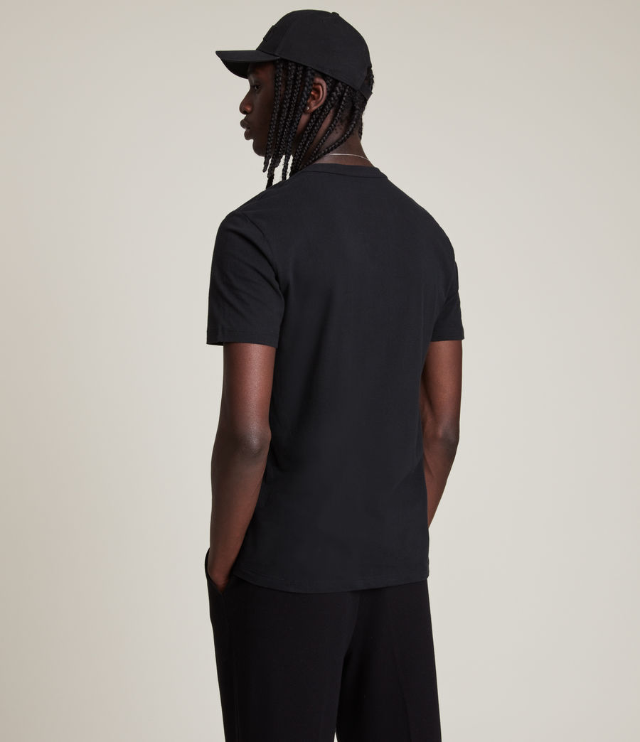 Men's Brace Tonic Crew T-Shirt (jet_black) - Image 5