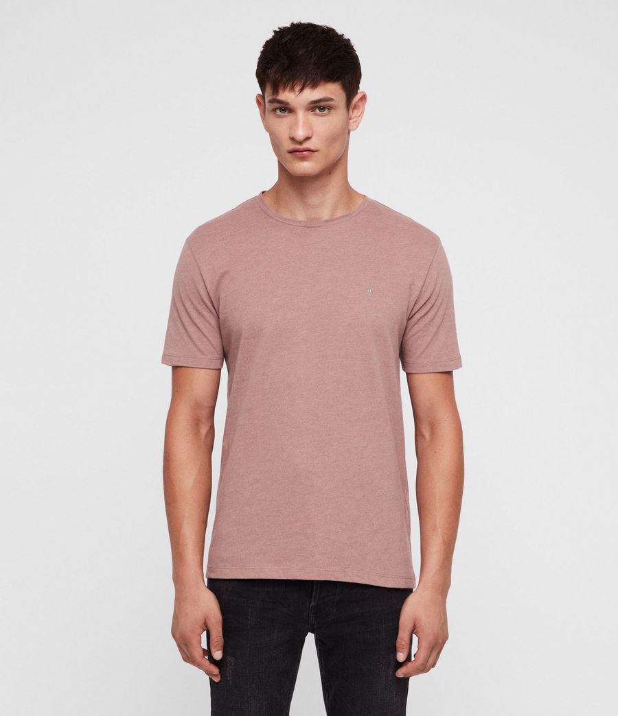 Hombres Brace Tonic Crew T-Shirt (clay_red_marl) - Image 1