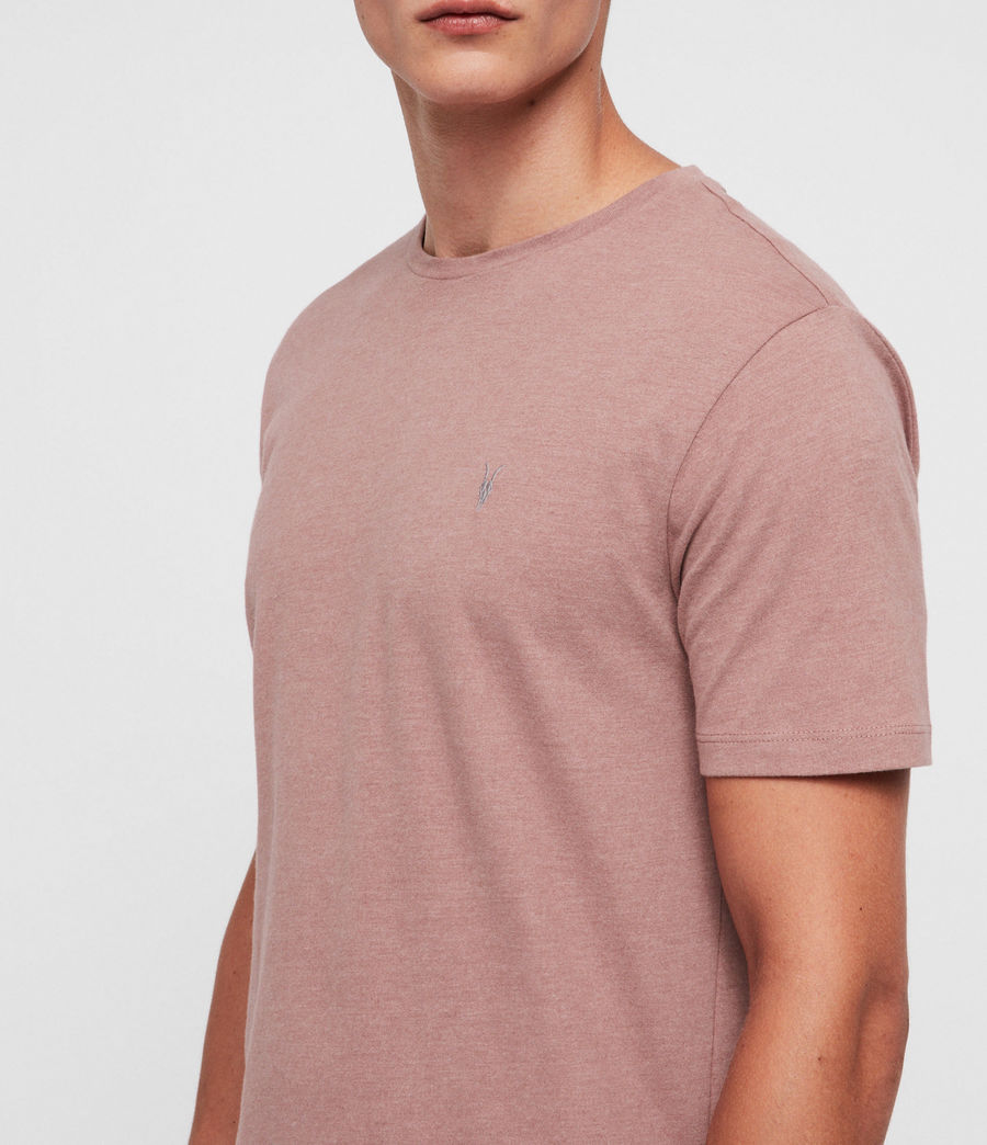 Hombres Brace Tonic Crew T-Shirt (clay_red_marl) - Image 2