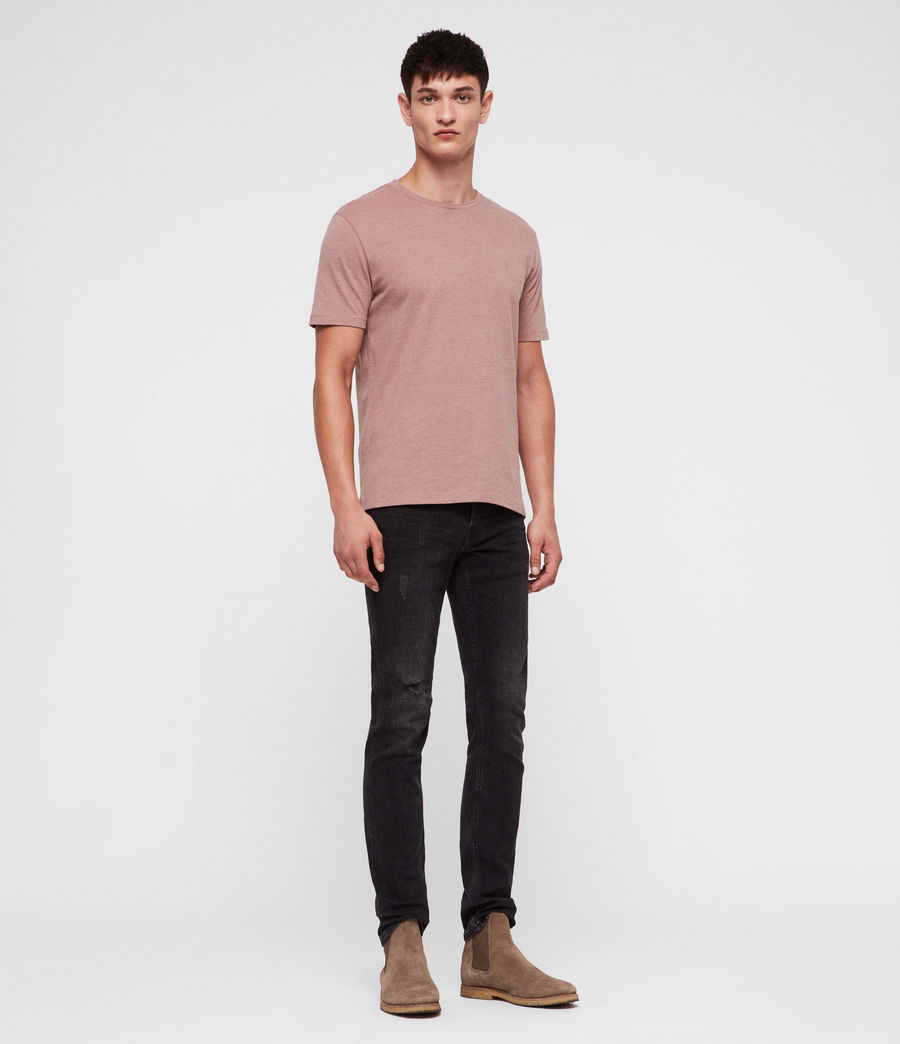Hombres Brace Tonic Crew T-Shirt (clay_red_marl) - Image 3