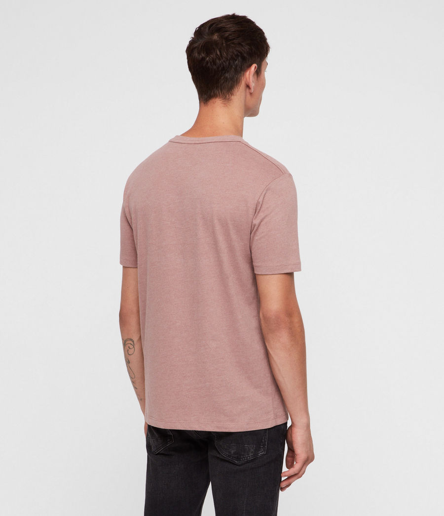Hombres Brace Tonic Crew T-Shirt (clay_red_marl) - Image 4