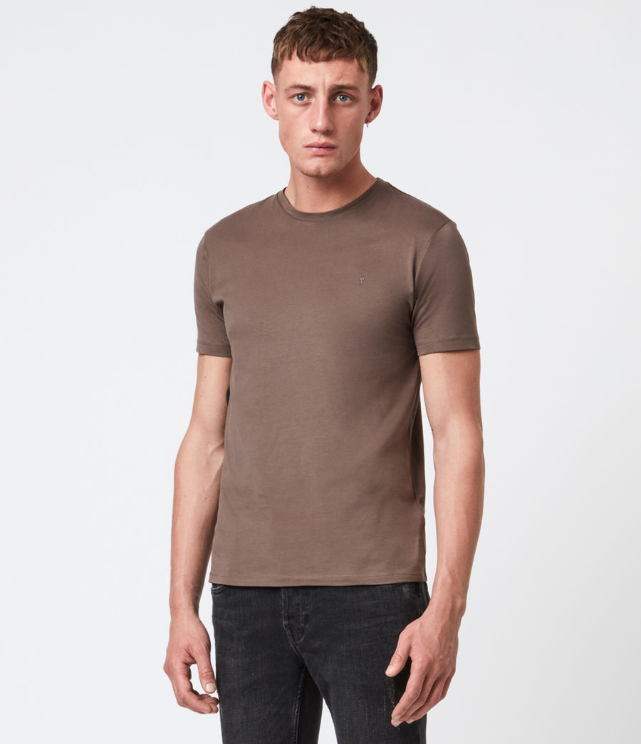 Men's Brace Tonic Crew T-Shirt (mushroom_brown) - Image 1