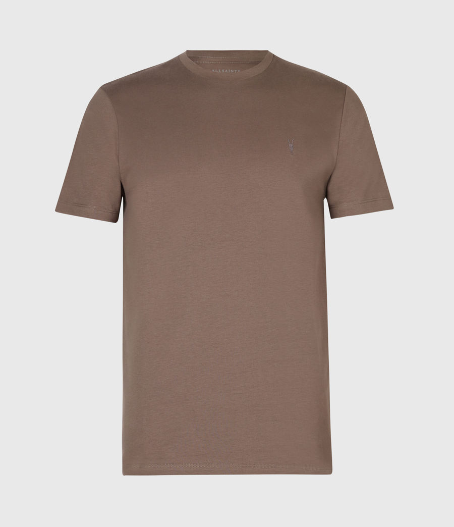 Men's Brace Tonic Crew T-Shirt (mushroom_brown) - Image 2