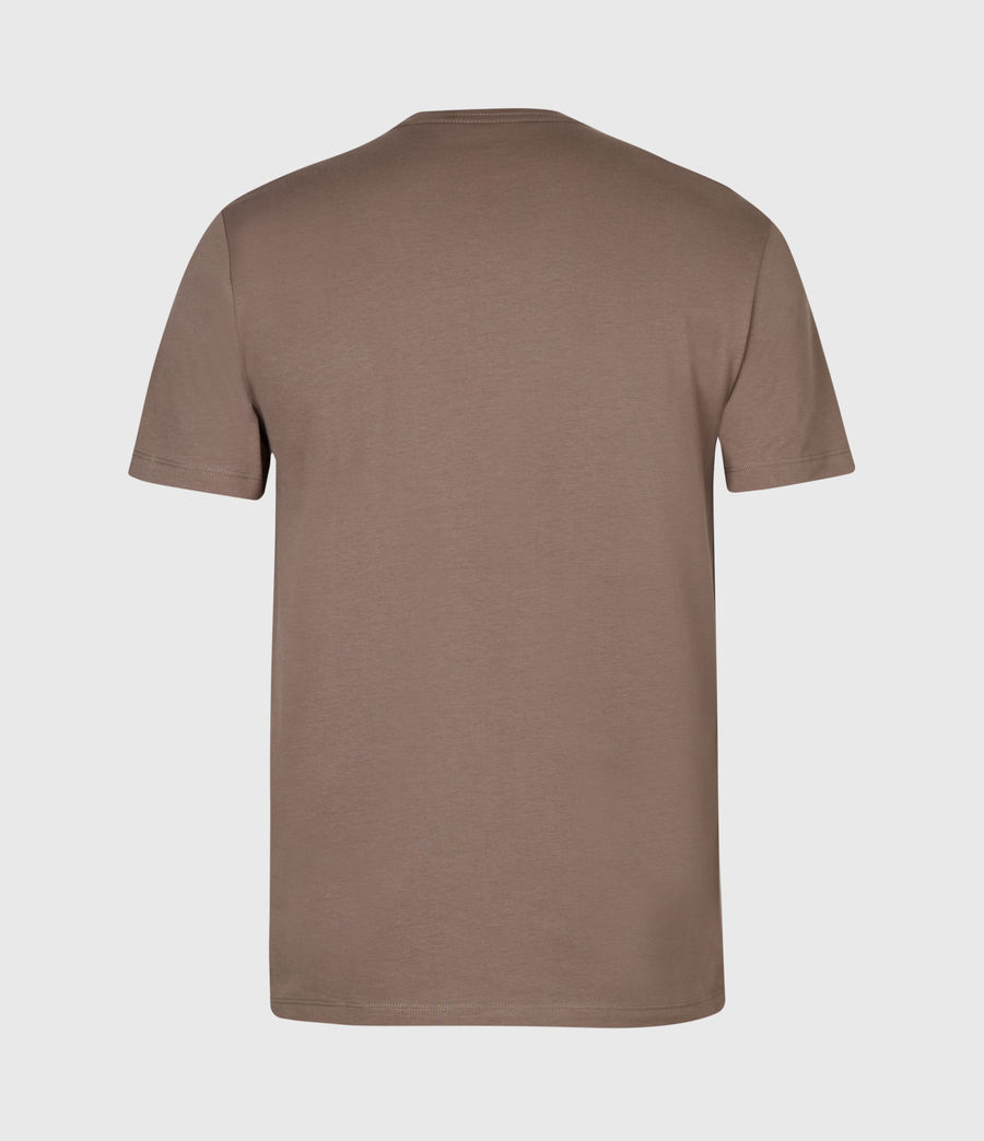 Men's Brace Tonic Crew T-Shirt (mushroom_brown) - Image 3