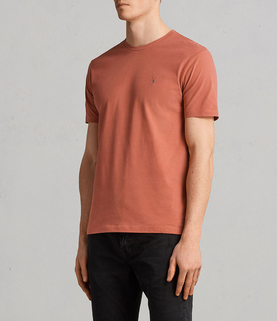 Herren Brace Tonic Crew T-Shirt (BLOCK RED) - Image 3
