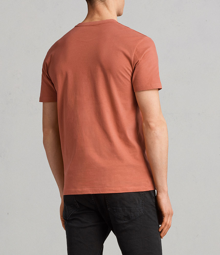Herren Brace Tonic Crew T-Shirt (BLOCK RED) - Image 4