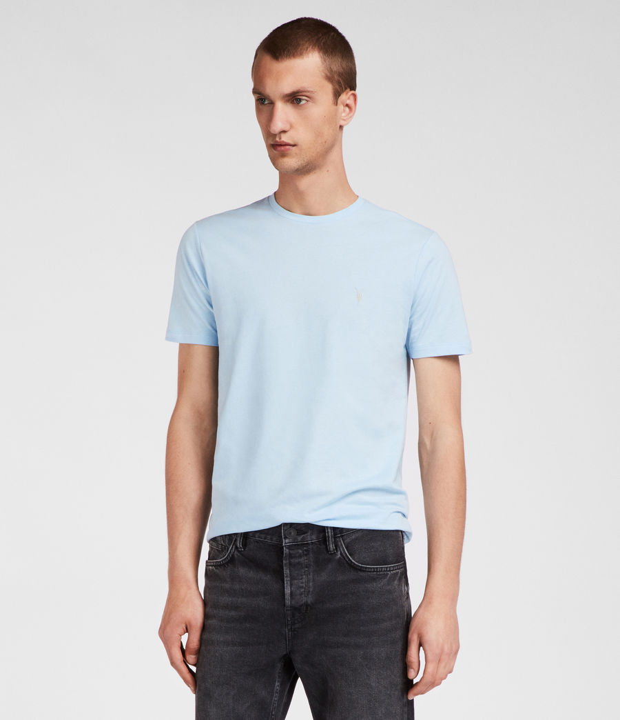 Men's Brace Tonic Crew T-Shirt (icing_blue) - Image 1