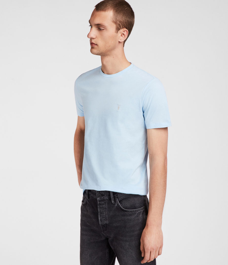 Men's Brace Tonic Crew T-Shirt (icing_blue) - Image 3