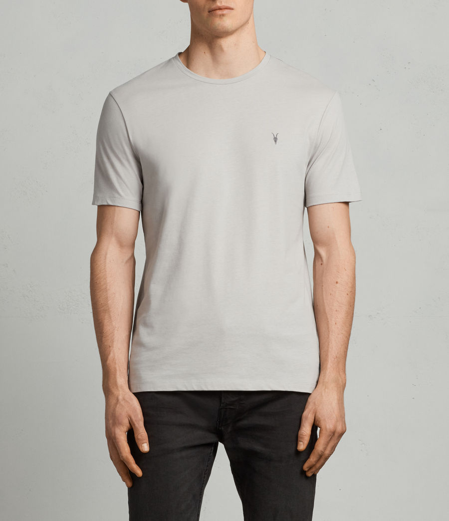Men's Brace Tonic Crew T-Shirt (SHEER GREY) - Image 1