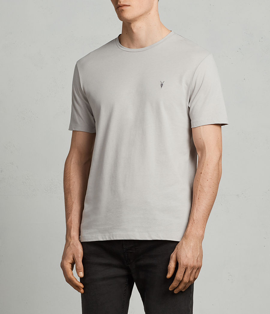 Men's Brace Tonic Crew T-Shirt (SHEER GREY) - Image 3