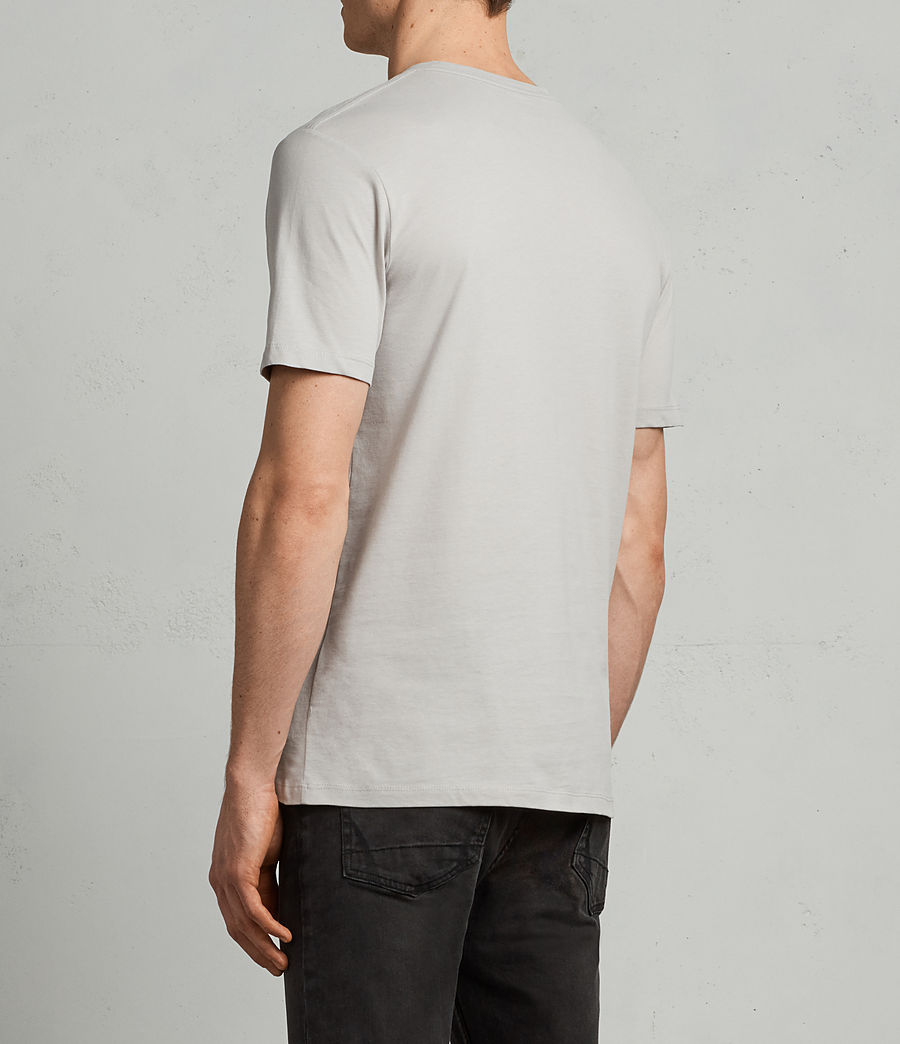 Men's Brace Tonic Crew T-Shirt (SHEER GREY) - Image 4