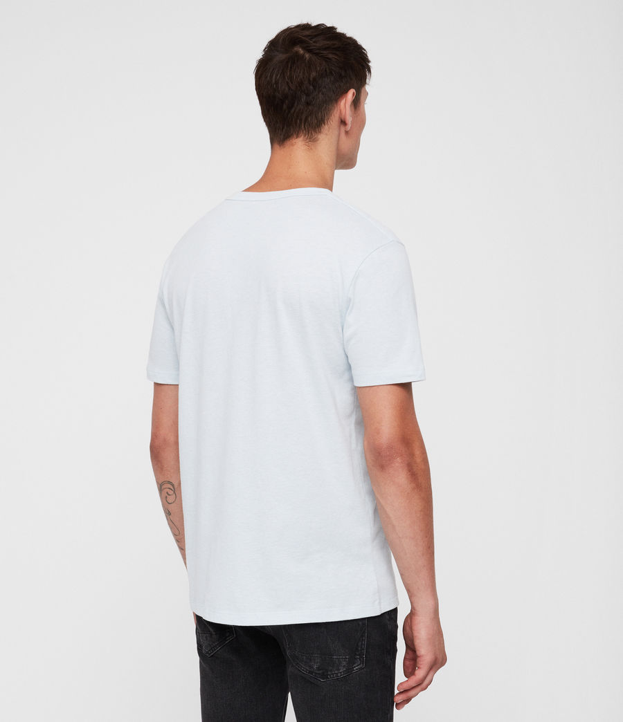Herren Brace Tonic T-Shirt (cloud_blue_marl) - Image 4