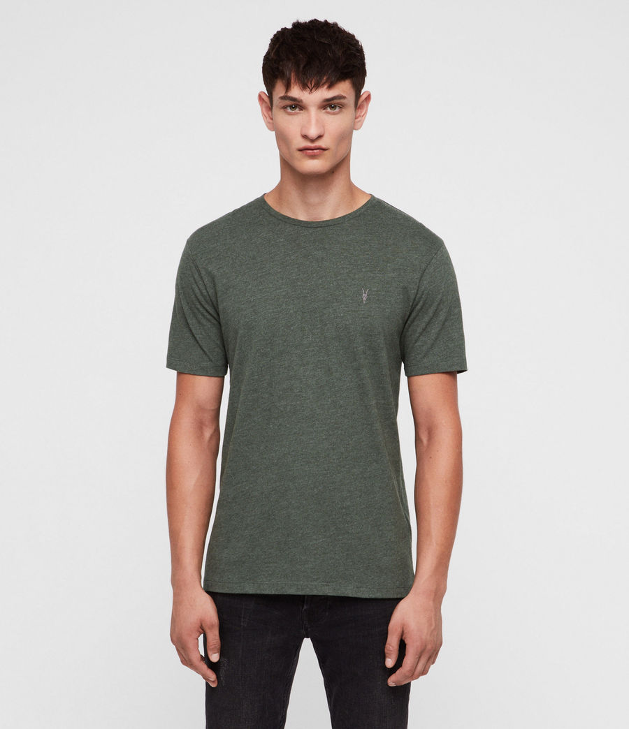 Hombres Brace Tonic Crew T-Shirt (canopy_green_marl) - Image 1