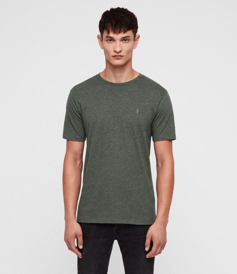 Men's Brace Tonic Crew T-Shirt (canopy_green_marl) - Image 1