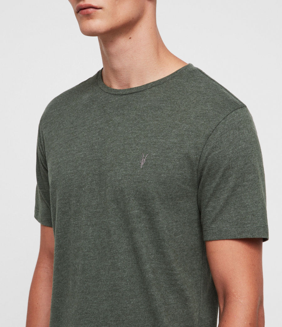 Hombres Brace Tonic Crew T-Shirt (canopy_green_marl) - Image 2