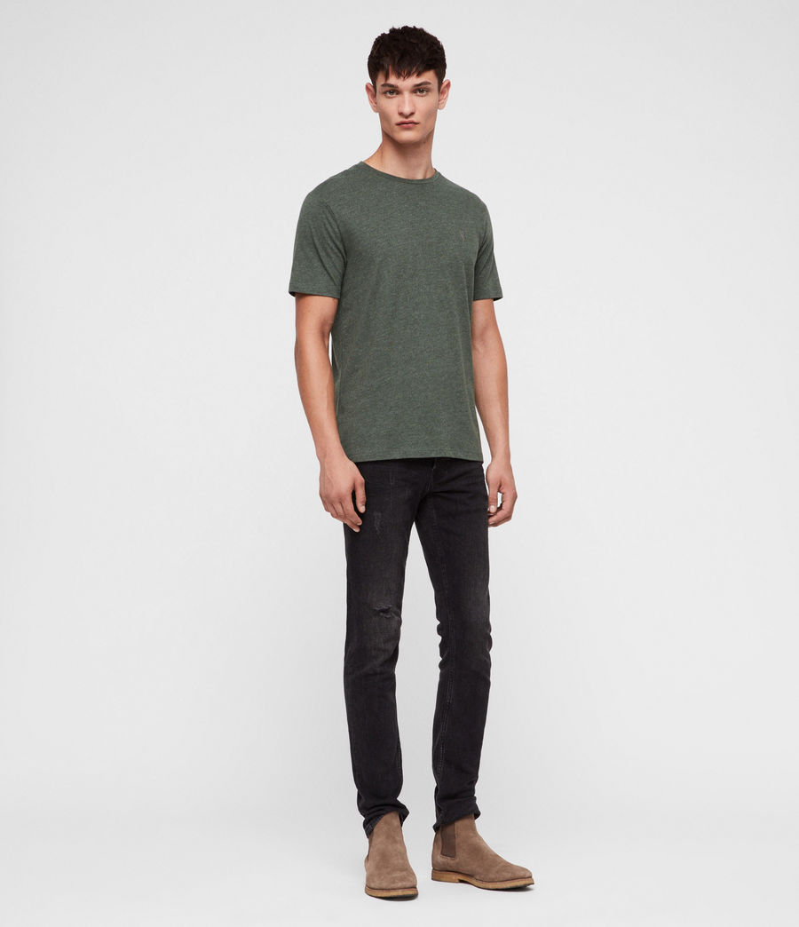Hombres Brace Tonic Crew T-Shirt (canopy_green_marl) - Image 3