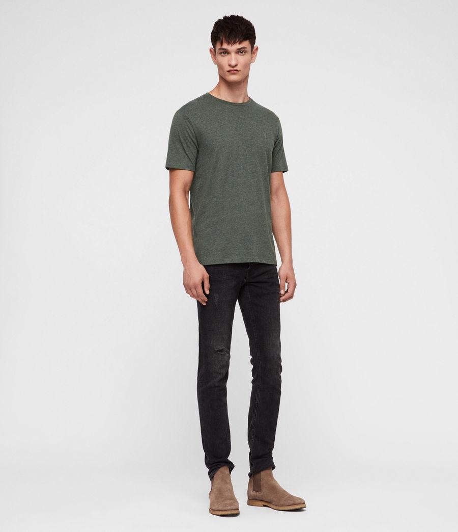 Men's Brace Tonic Crew T-Shirt (canopy_green_marl) - Image 3