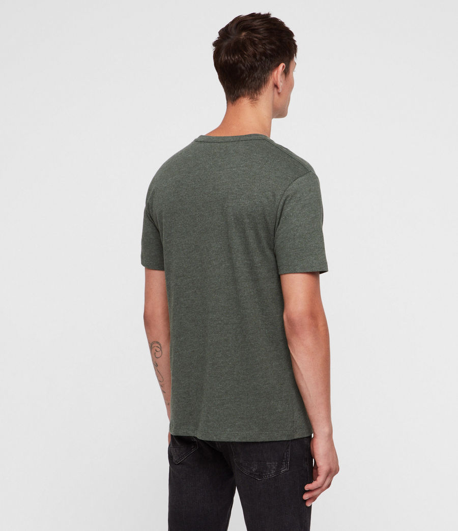 Hombres Brace Tonic Crew T-Shirt (canopy_green_marl) - Image 4