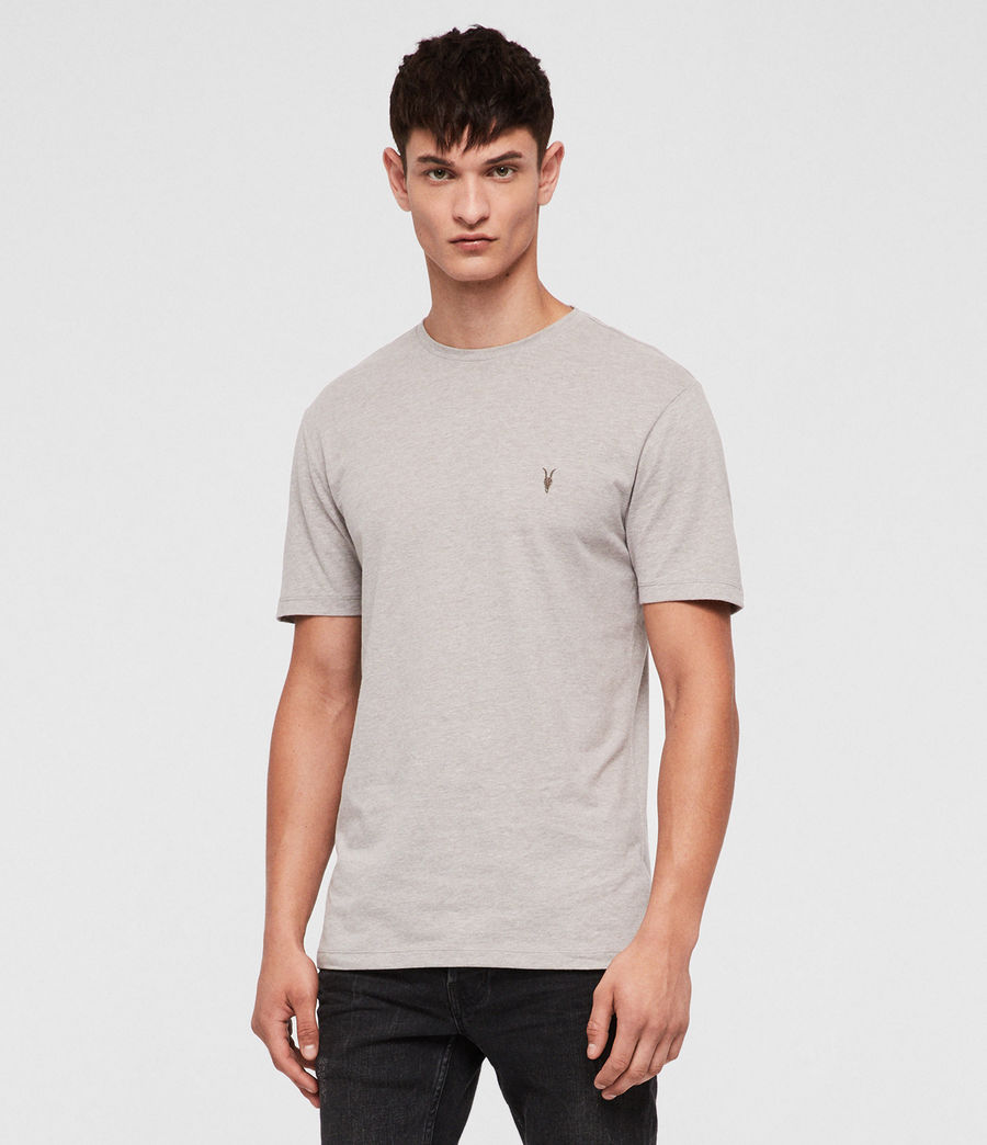 Mens Brace Tonic Crew T-Shirt (mine_grey_marl) - Image 1