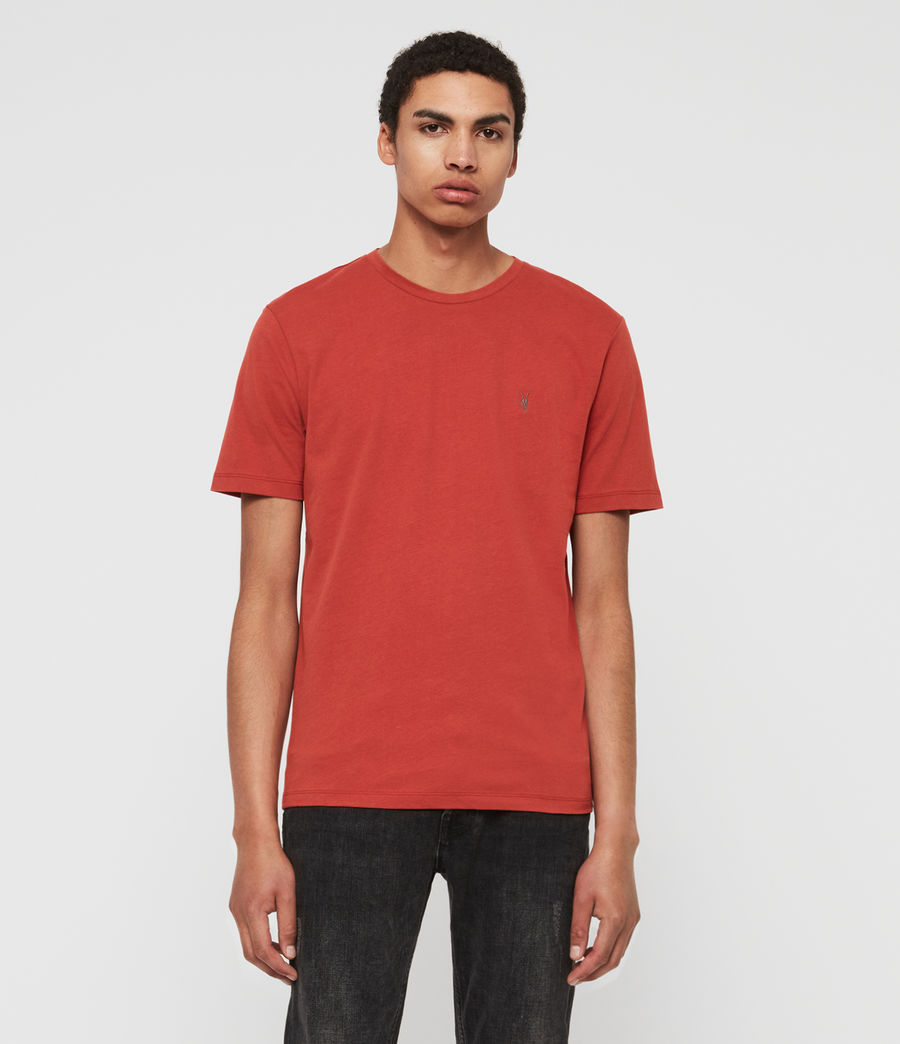 Mens Brace Tonic Crew (brick_red) - Image 1