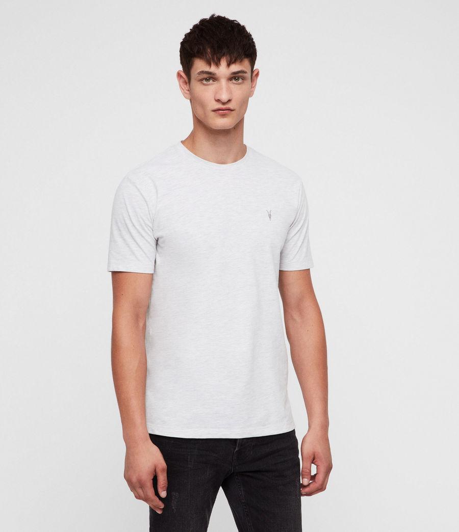 Mens Brace Tonic Crew T-Shirt (chalk_white_marl) - Image 1