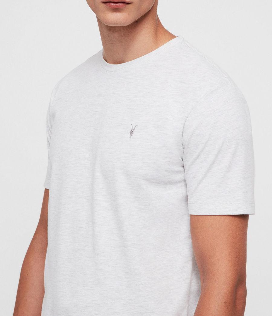 Mens Brace Tonic Crew T-Shirt (chalk_white_marl) - Image 2