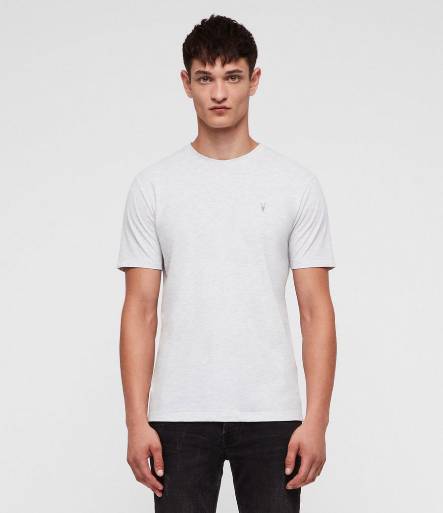 Mens Brace Tonic Crew T-Shirt (chalk_white_marl) - Image 3