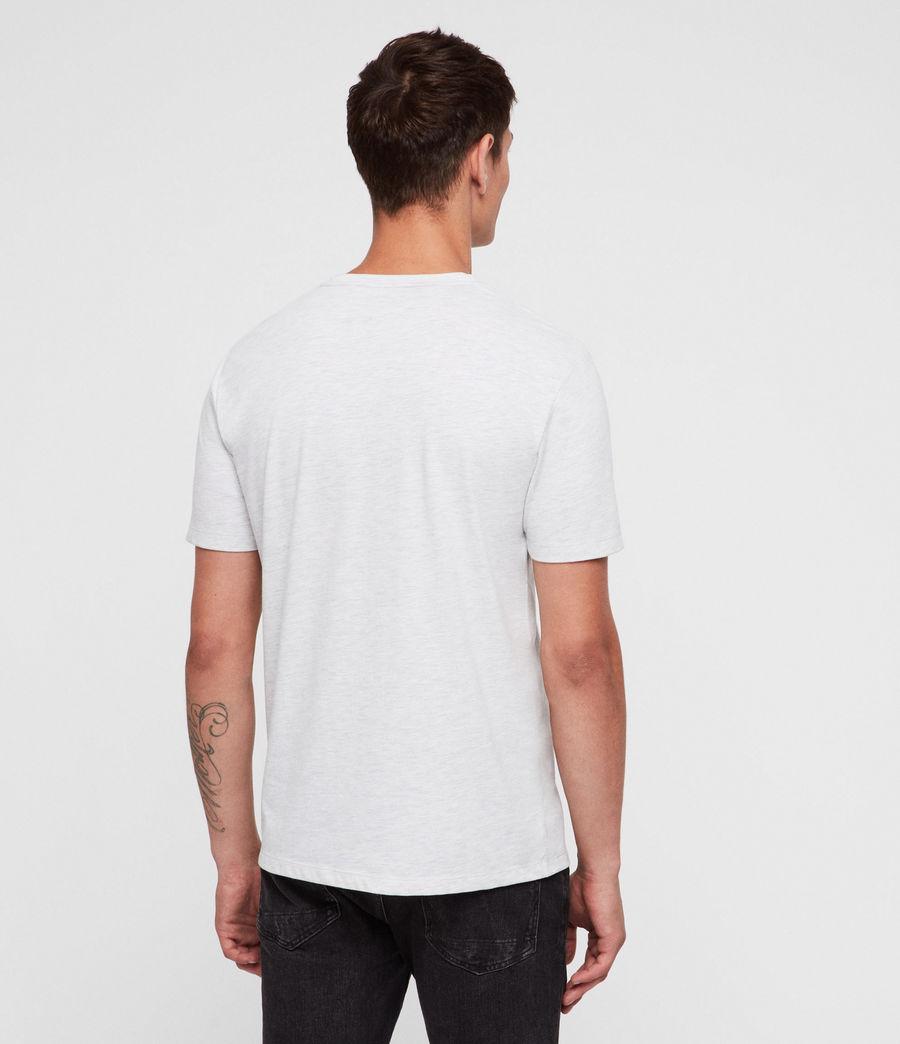 Mens Brace Tonic Crew T-Shirt (chalk_white_marl) - Image 4