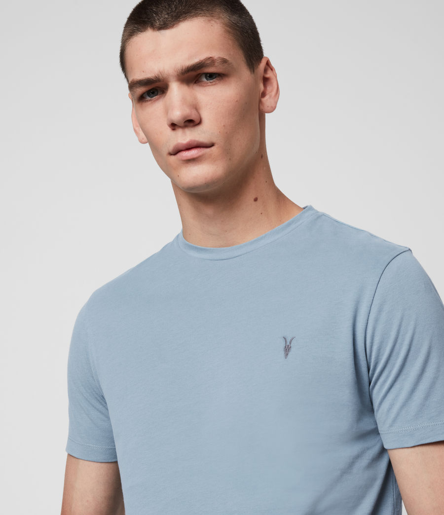 Hombres Brace Tonic Crew T-Shirt (haze_blue) - Image 2