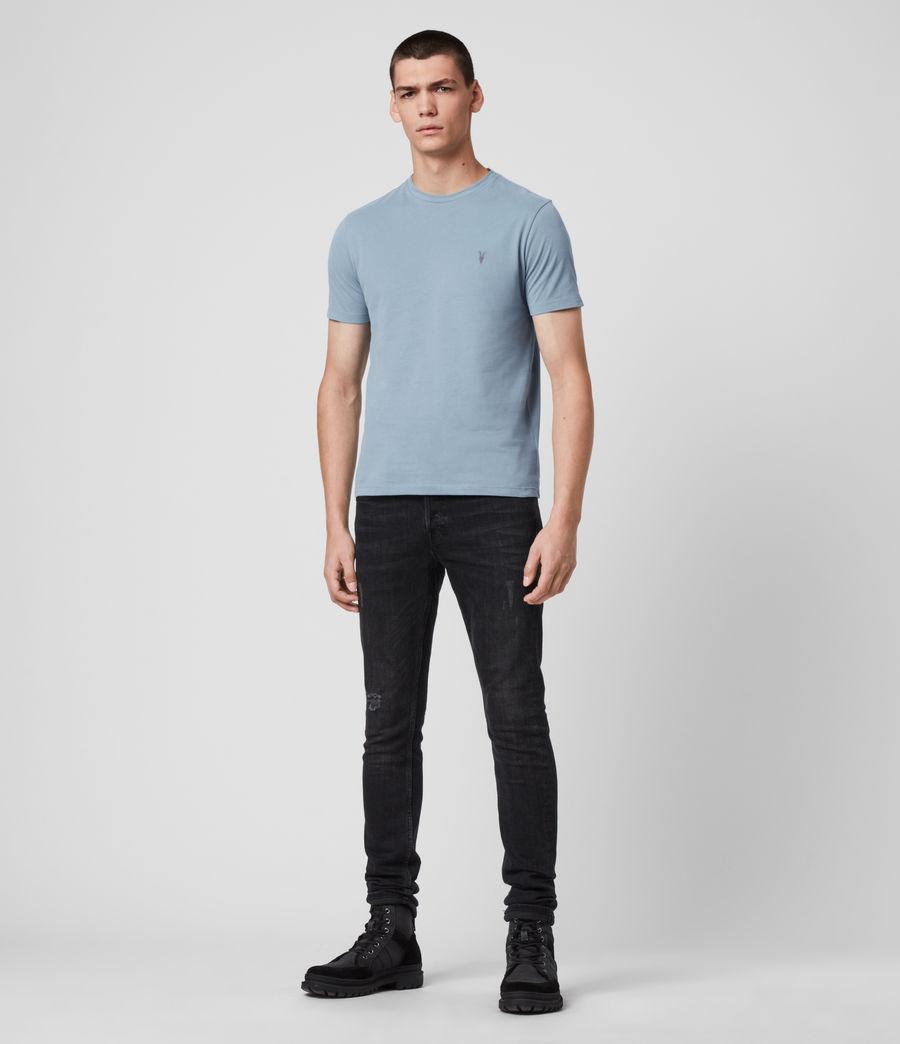 Hombres Brace Tonic Crew T-Shirt (haze_blue) - Image 3
