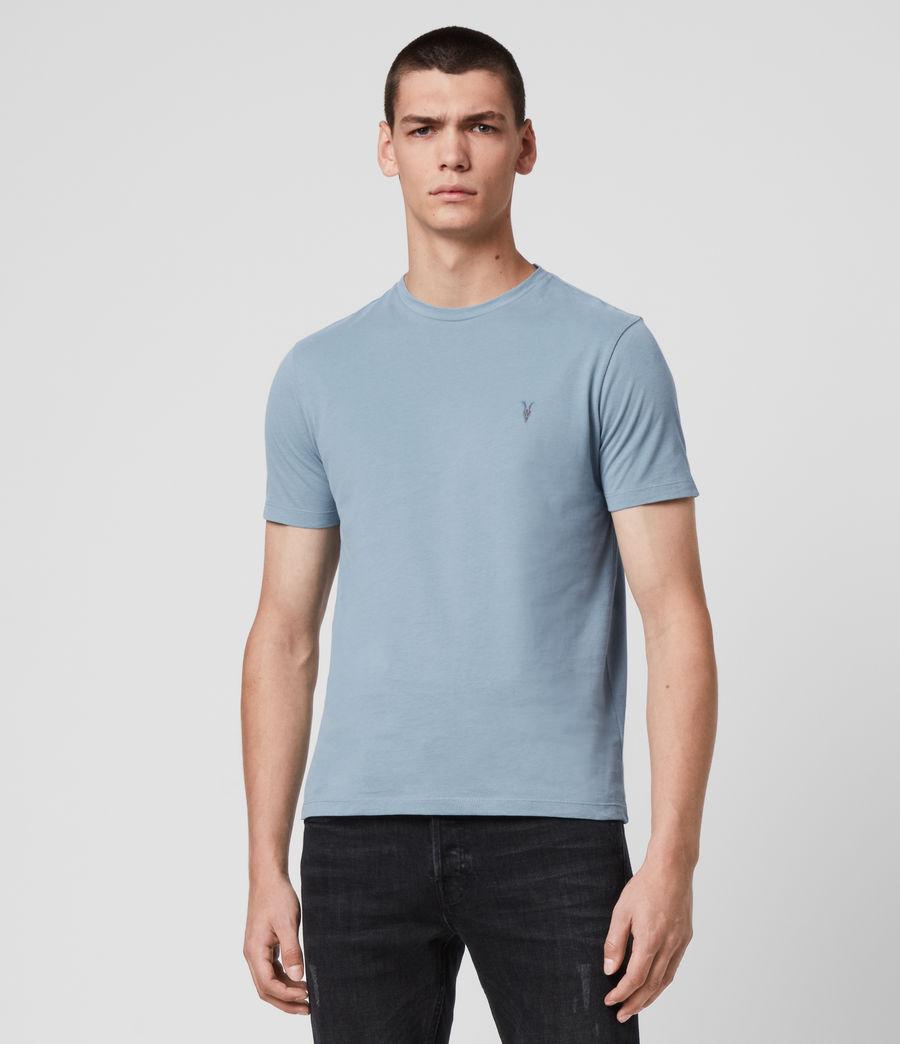 Hombres Brace Tonic Crew T-Shirt (haze_blue) - Image 4