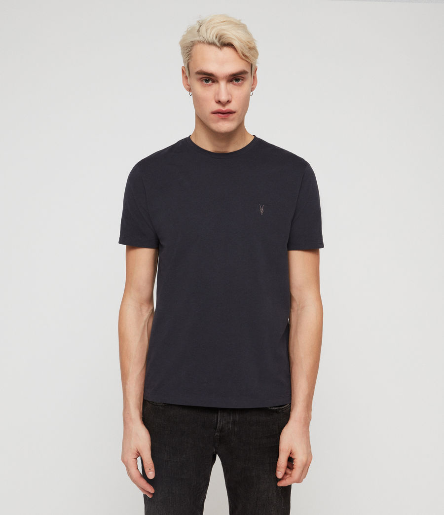 Mens Brace Tonic Crew T-Shirt (lead_navy) - Image 1