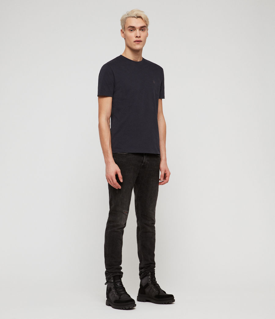 Men's Brace Tonic Crew T-Shirt (lead_navy) - Image 3