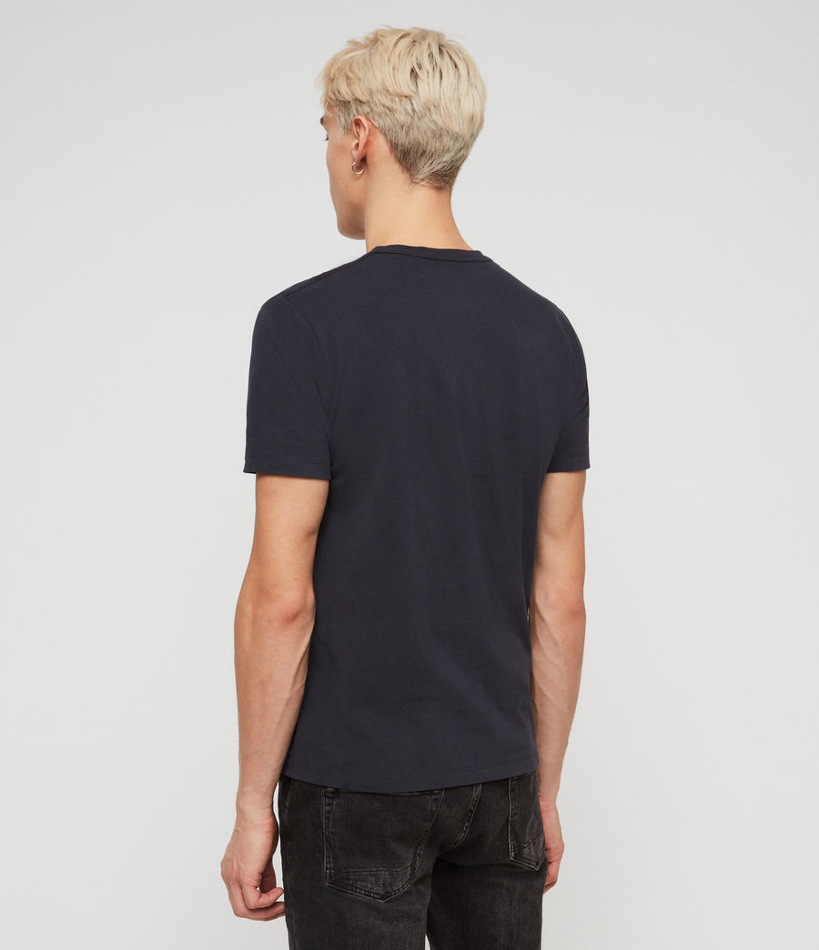 Mens Brace Tonic Crew T-Shirt (lead_navy) - Image 4