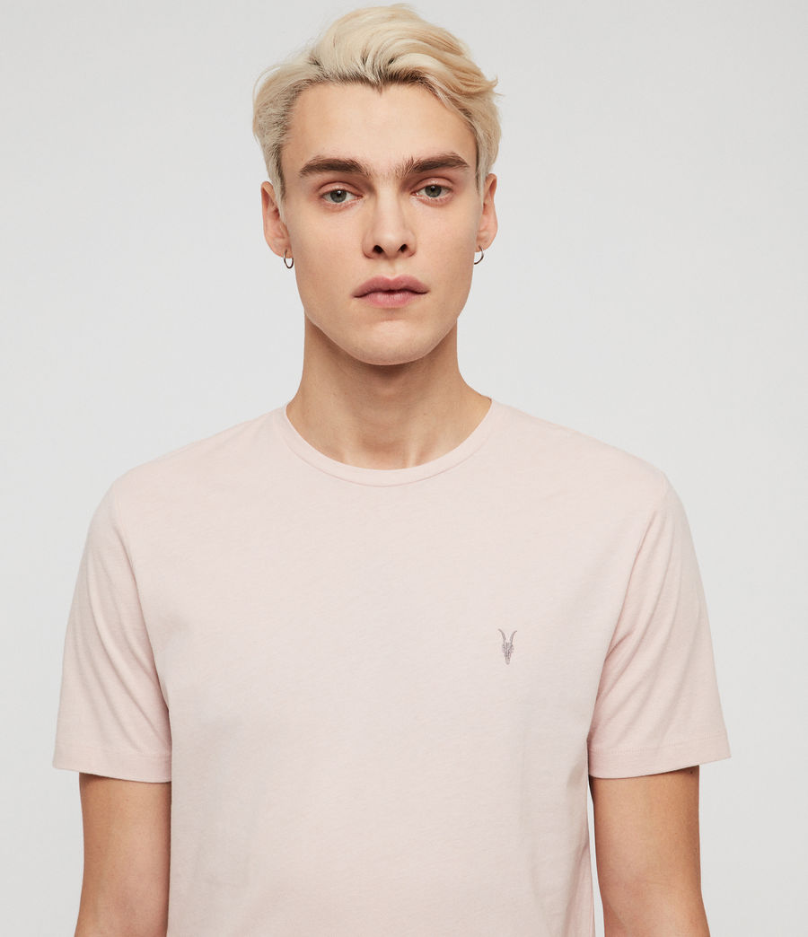 Mens Brace Tonic Short Sleeve Crew T-Shirt (bleached_pink) - Image 2