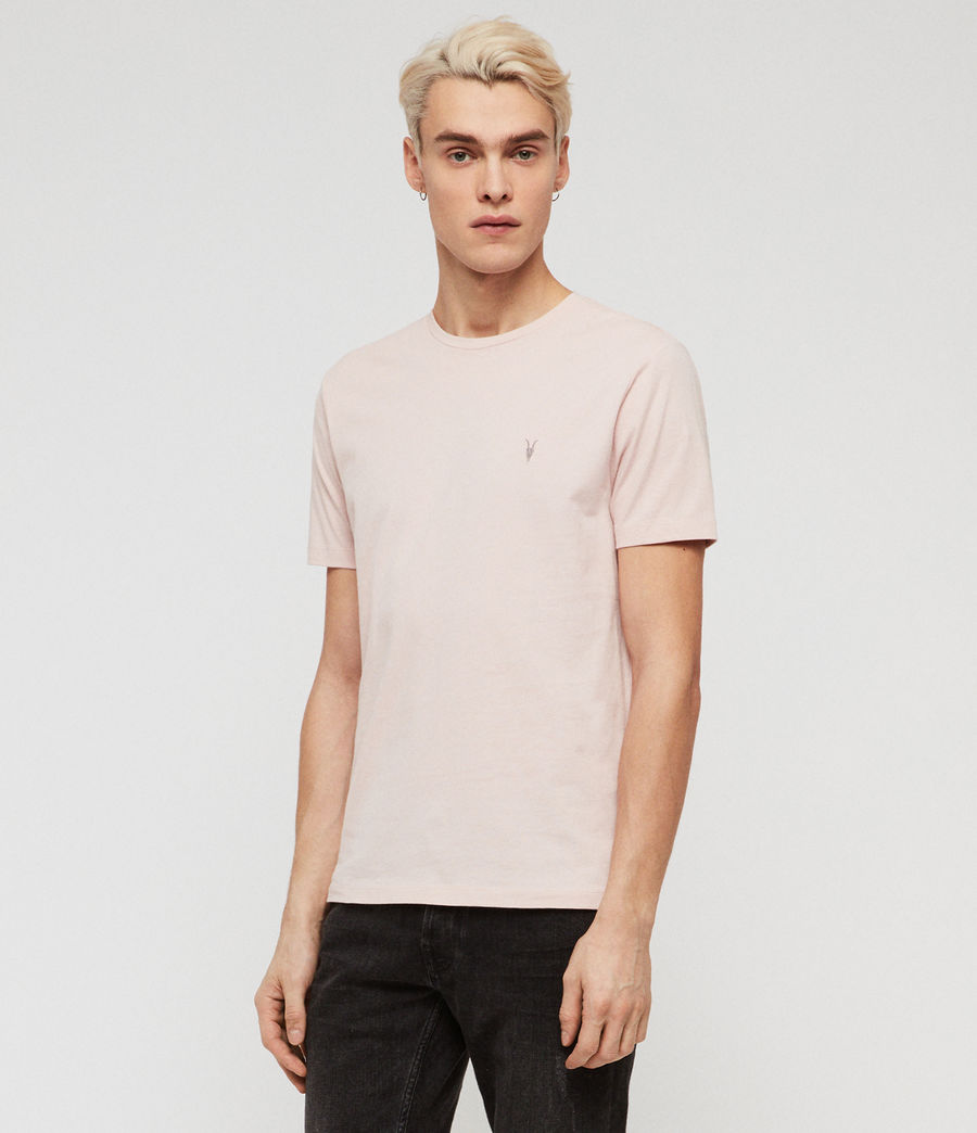 Mens Brace Tonic Short Sleeve Crew T-Shirt (bleached_pink) - Image 3
