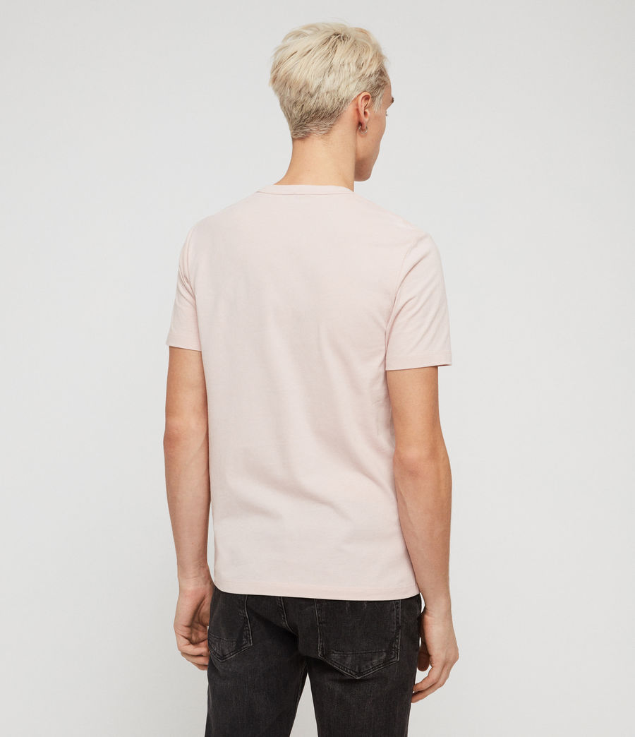 Mens Brace Tonic Short Sleeve Crew T-Shirt (bleached_pink) - Image 4