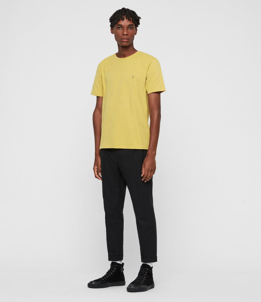 Men's Brace Tonic Crew T-Shirt (leo_yellow) - Image 3