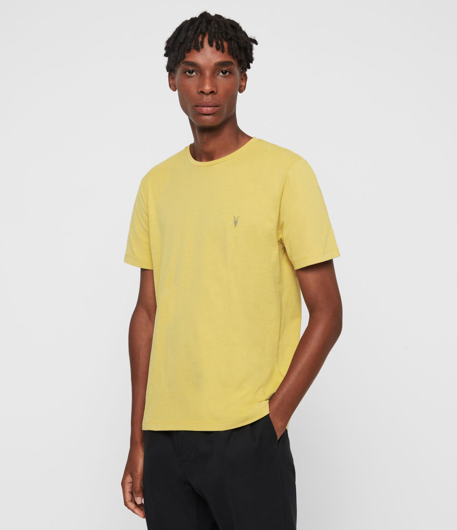 Men's Brace Tonic Crew T-Shirt (leo_yellow) - Image 4