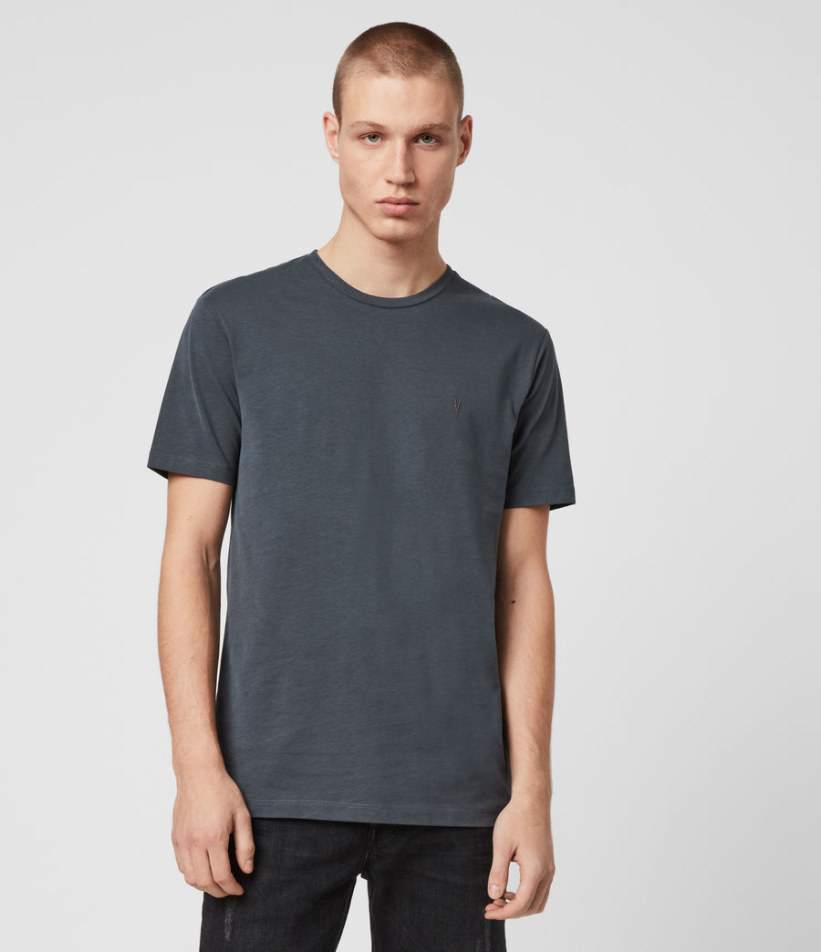 Men's Brace Tonic Crew T-Shirt (petroleum_navy) - Image 1