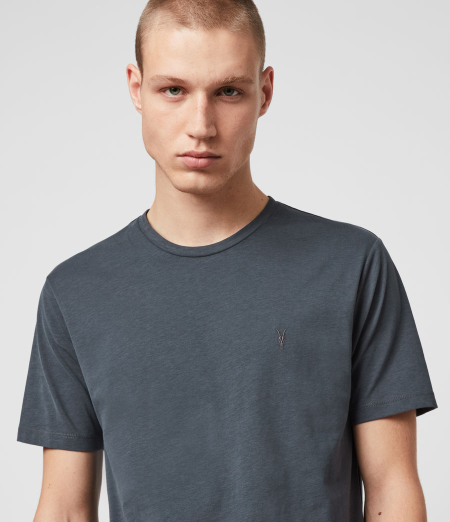 Men's Brace Tonic Crew T-Shirt (petroleum_navy) - Image 2