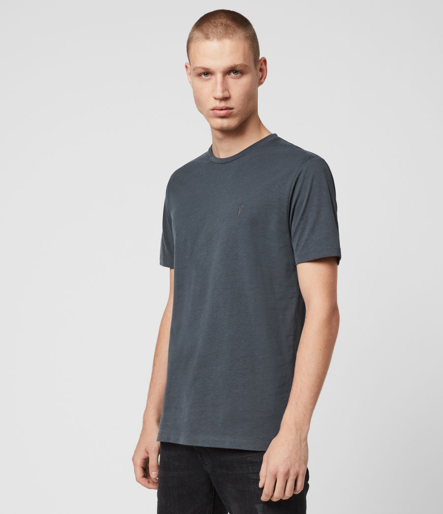 Mens Brace Tonic Short Sleeve Crew T-Shirt (grey_marl) - Image 4