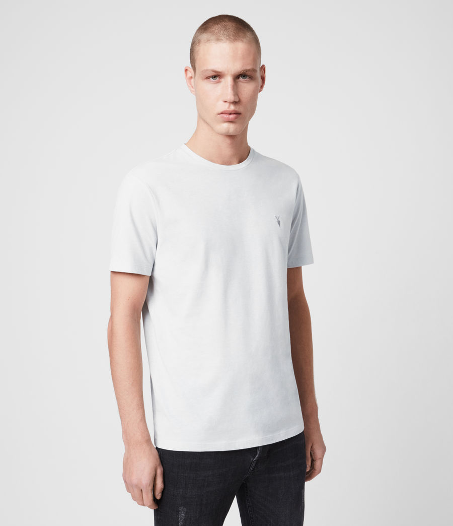 Hombres Brace Tonic Crew T-Shirt (lt_mineral_blue_ml) - Image 1