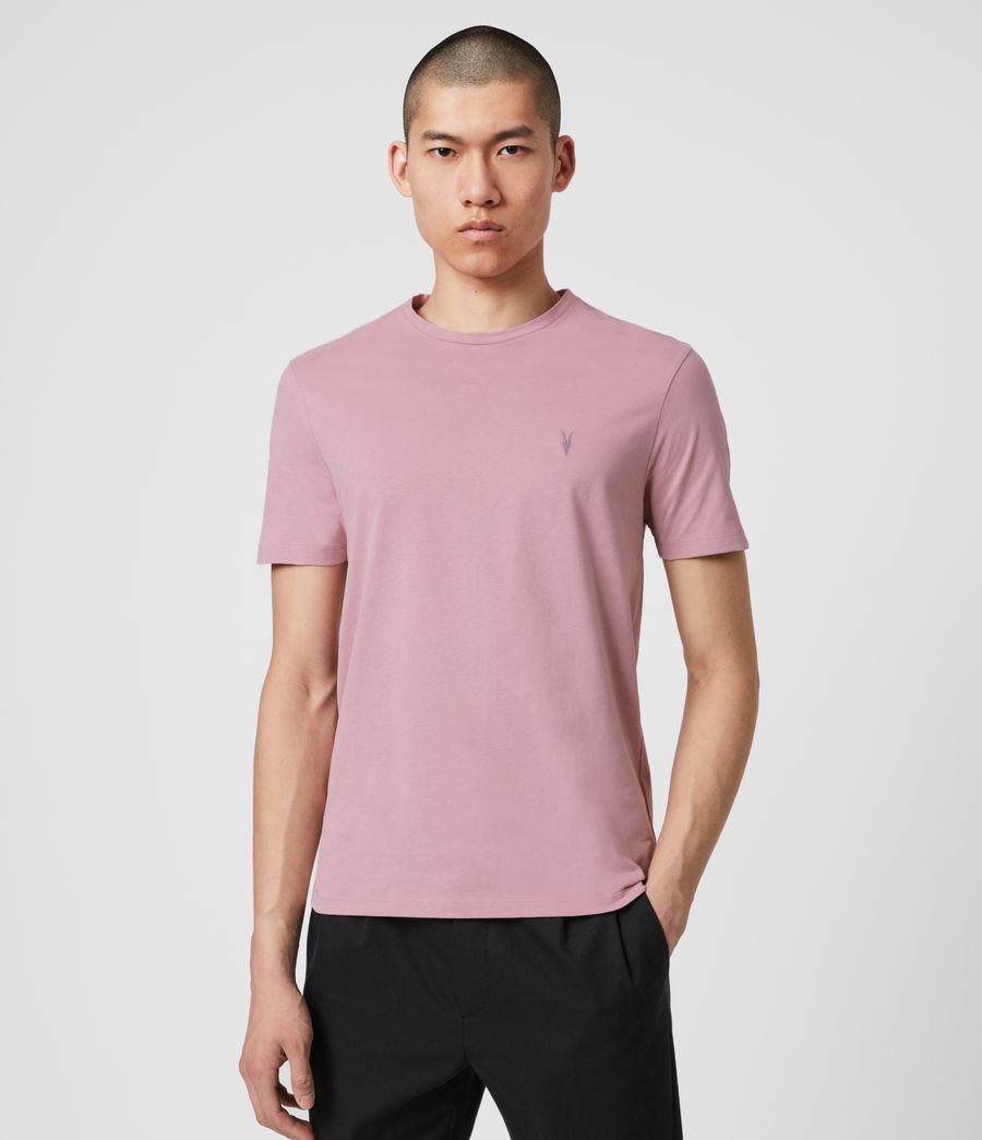 Mens Brace Tonic Crew T-Shirt (sunset_pink) - Image 1