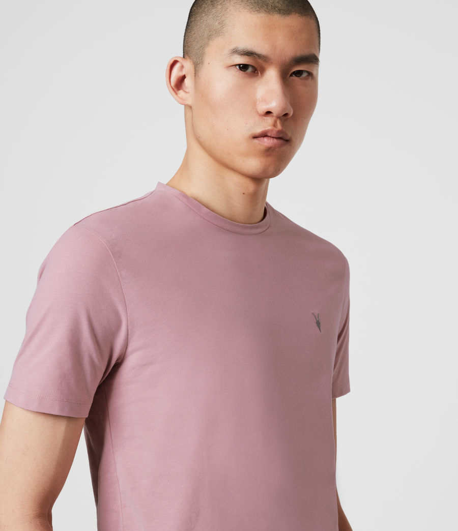 Mens Brace Tonic Crew T-Shirt (sunset_pink) - Image 2