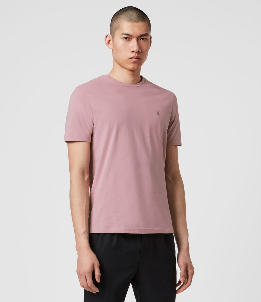 Mens Brace Tonic Crew T-Shirt (sunset_pink) - Image 4