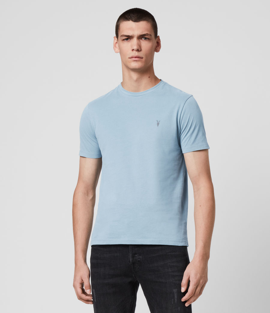 Men's Brace Tonic Crew T-Shirt (ceramic_blue) - Image 1